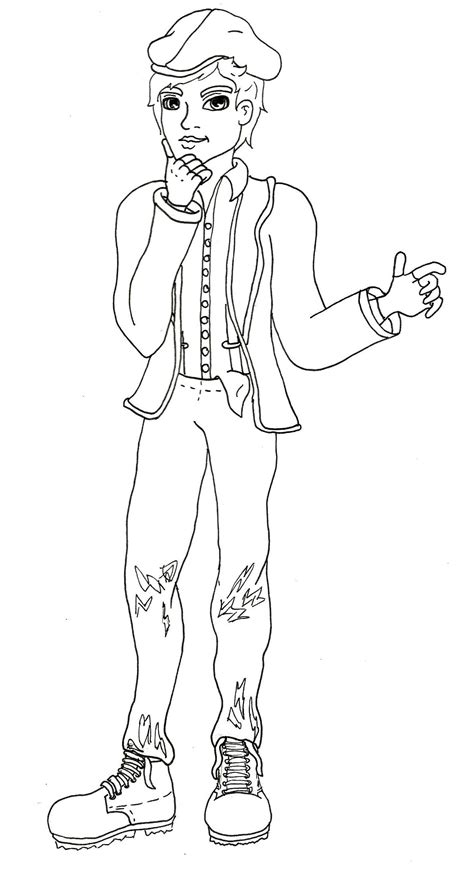 bunny blanc coloring pages alistair wonderland ever after high fandom wiki fandom