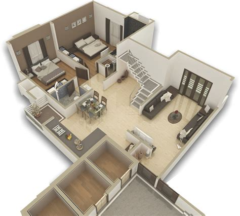 2nd Floor House Plan by Kanha Group
