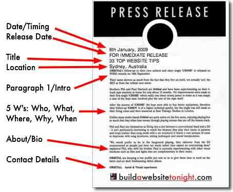 5 Tips For Writing A Catchy Press Release And Doing It Again And Again And Again Where Press Release Template