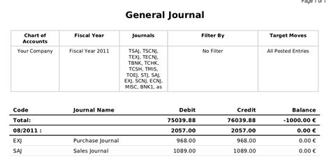 layout of general journal accounting journal template image collections template