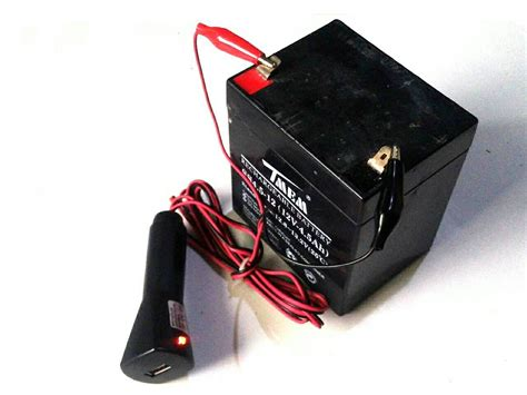 Charger Aki Cas Aki Batere Mobil Portable 12v 2a Promo Charger Aki jual cas hape dari aki 12v output charger usb 5volt 500mah toko led luxeon cree