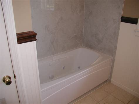 one piece bathtub surround bathtub surrounds shower bathroom tub surround done with wood tile turned out