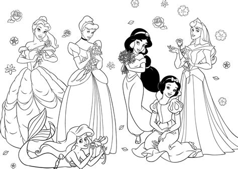 princesses coloring pages happy birthday disney coloring pages coloring home