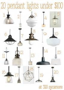 chandeliers 100 dollars 20 great pendant lights 100 kitchen lighting