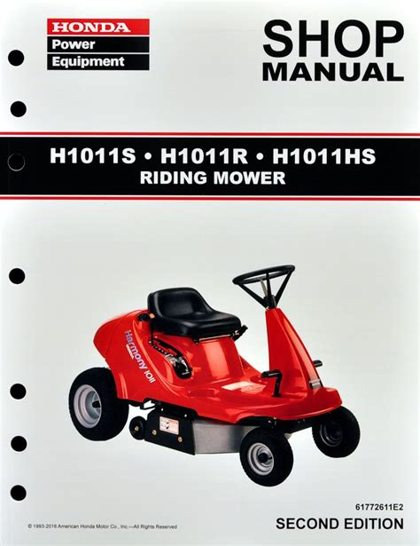 honda mower manual honda h1011 mower service repair shop manual ebay