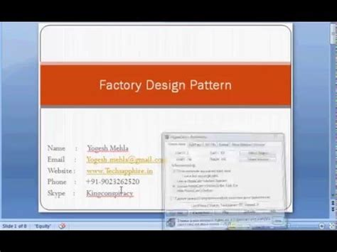 factory pattern youtube factory design pattern using c youtube
