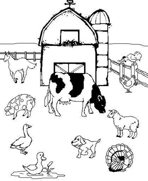 animali da cortile da colorare disegni per bambini con animali della fattoria foto