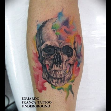 watercolor skull tattoo watercolor skull tattoos that are to die for interesting