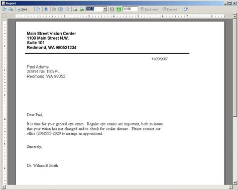Patient Recall Letter Template Recall Letter