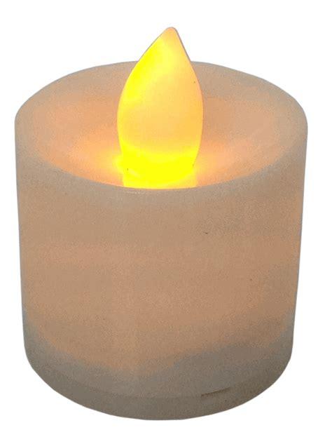 large tea light candles large flameless led tea light candles ivory 24pcs