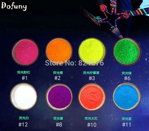 mixing glow in the powder with acrylic paint mixed 10 colors fluorescent powder not glow in the