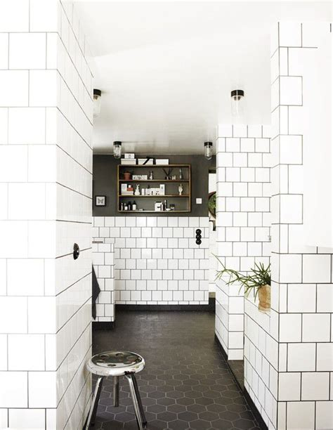 bathroom white tile black grout white subway tile grout for the home