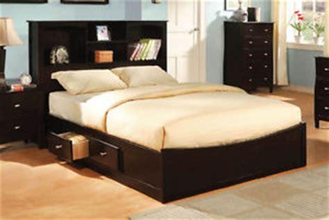 modern storage espresso size platform bed with