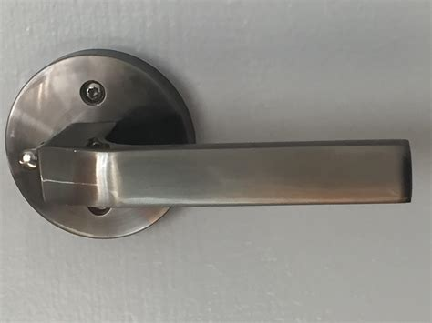 Brushed Nickel Interior Door Handles Modern Interior Door Handle Set Push Button Brushed Nickel Toronto Door Hardware