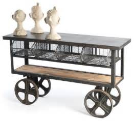 Kitchen Cart Table Industrial Loft Merchandise Console Table Cart Traditional Kitchen Islands And Kitchen Carts