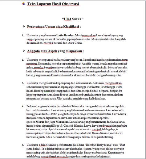 format laporan observasi pdf menyunting dan struktur teks laporan hasil observasi