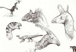 dinosaur sketches by exobio on deviantart