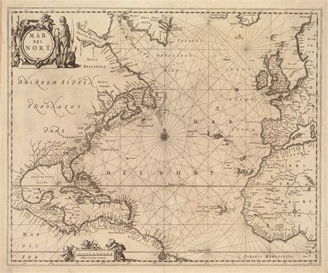 nautical maps 1650 nautical chart of the atlantic