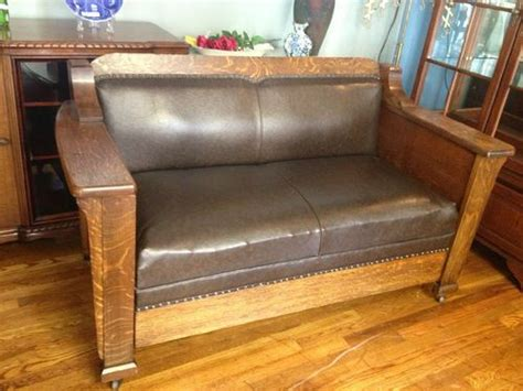 pullman couch antique pullman stickley arts and crafts mission style