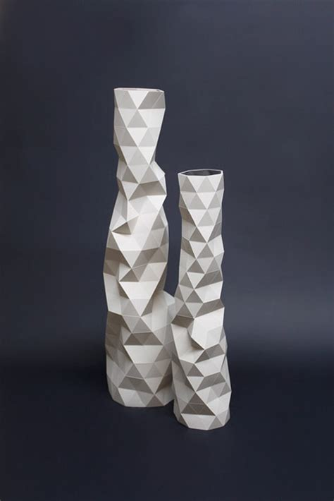 designer vase faceture vases and light shades by designer phil cuttance