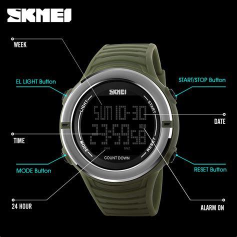Jam Tangan Digital 5 skmei jam tangan digital pria 1209 black jakartanotebook