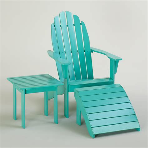 Turquoise Patio Chairs Blue Turquoise Classic Adirondack Collection World Market