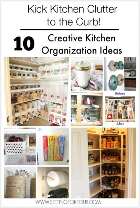 Organizing Kitchen Ideas 10 Budget Friendly Creative Kitchen Organization Ideas Setting For Four
