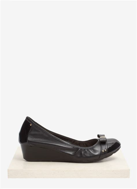 cole haan ballet wedge pumps in black lyst