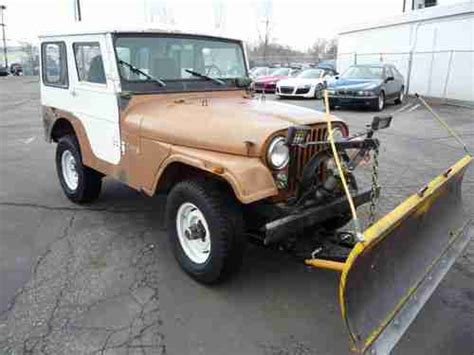 Jeep With Snow Plow For Sale Sell Used 1973 Jeep Cj5 With Snow Plow Starts And Runs