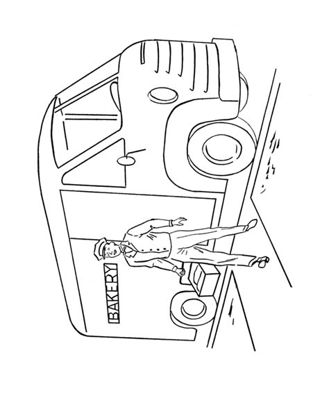 coloring page delivery truck learning years coloring pages cars and vehicles