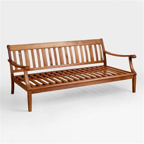 deep bench wood st martin deep bench frame world market