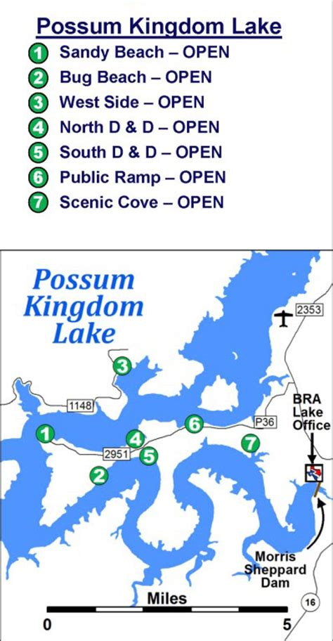 public boat rs at possum kingdom lake the brazos river authority gt about us gt reservoirs