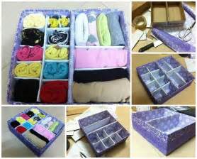 diy easy cardboard drawer divider storage box goodhomediy com