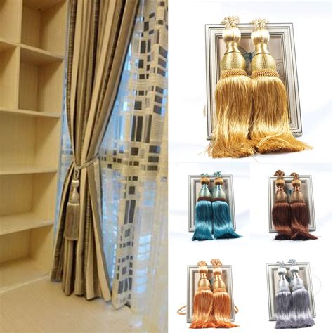curtain tiebacks and holdbacks 2pcs tassel rope window curtain tiebacks buckles tie backs