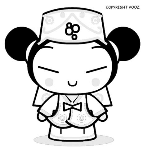 7 Pics of Pucca Coloring Pages Princess   Pucca Coloring