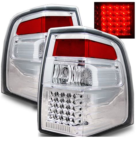 ford expedition tail lights 07 10 ford expedition euro style led tail lights chrome
