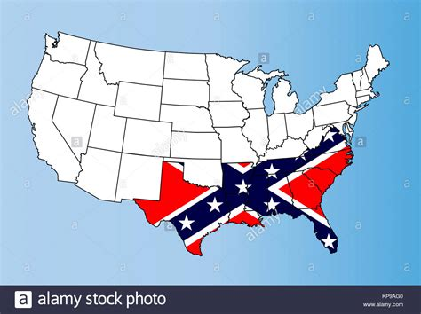 civil war states map confederate states map stock photos confederate states