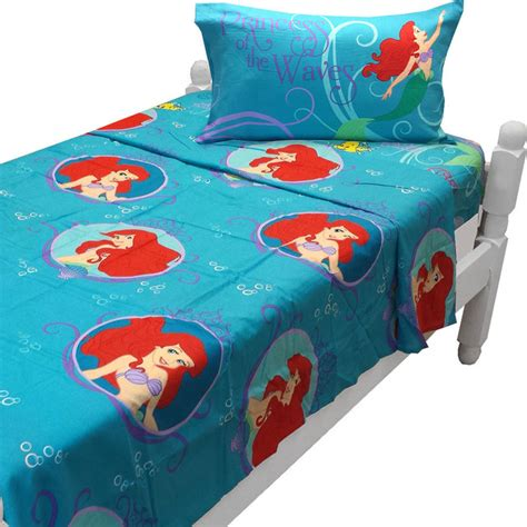 little mermaid twin comforter set little mermaid twin sheet set princess waves bedding