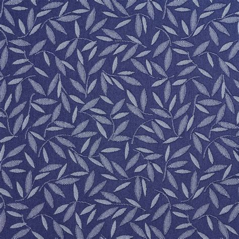 blue floral upholstery fabric navy and blue floral leaf contract grade upholstery fabric