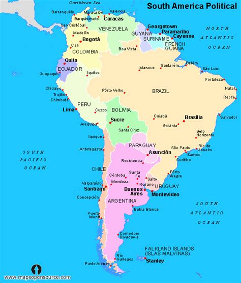 political map of south america free printable maps free south america political map political map of south