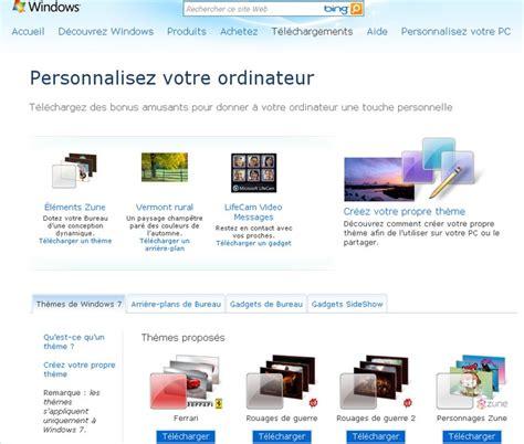 personnaliser bureau windows 7 t 233 l 233 charger de nouveaux th 232 mes pour windows 7 autour du web