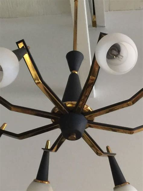 Spider Light Fixture Eight Arm Spider Style Vintage Italian Light Fixture For Sale At 1stdibs