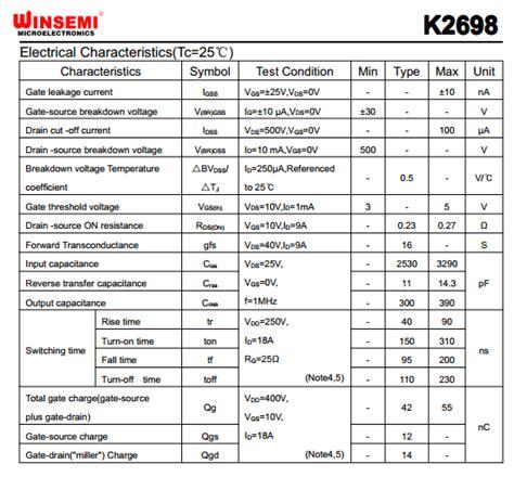 transistor k2698 k2698 datasheet k2698 pdf pinouts circuit unspecified