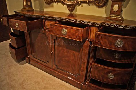 dining room buffet large regency style flame mahogany sideboard or credenza