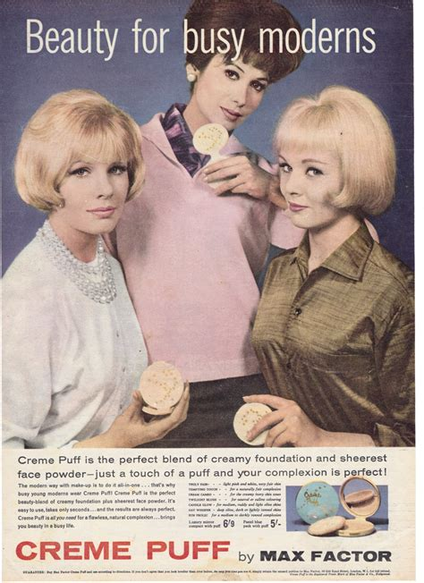 The Real M By Carey Ad by More Great Vintage Powder Compact Adverts Creme Puff
