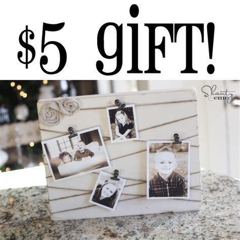 photo presents diy gifts easy cheap last minute gifts shanty 2 chic