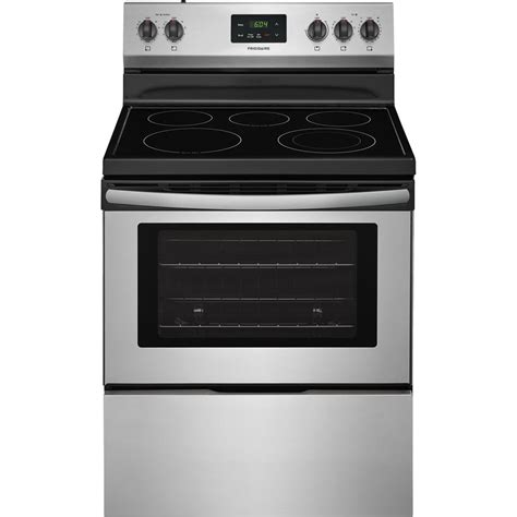 stainless steel range frigidaire 4 9 cu ft electric range in stainless steel ffef3052ts the home depot