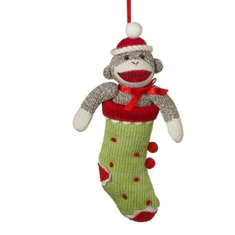 cbk sock monkey stocking ornament 989104