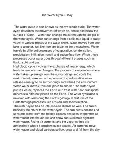 Safe Water Essay by Water Essay Research Paper 1499 Words Studymode