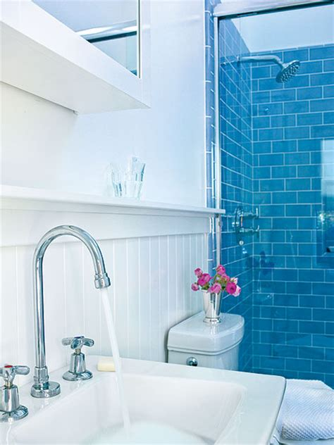 white and blue tiles in bathroom 5 techniques to use blue color in bathroom tile design